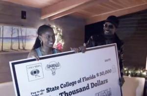 $50,000 scholarship winner Zaire Holmes