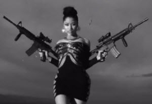 Fake gangsta creation Nicki Minaj wants you believe she is some kind of militant revolutionary.