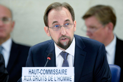 High Commissioner for Human Rights Zeid Ra'ad Zeid Al Hussein.