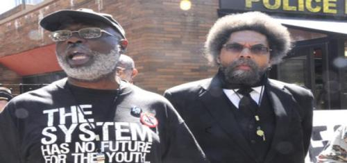 Carl Dix and Cornel West organize against mass incarceration.