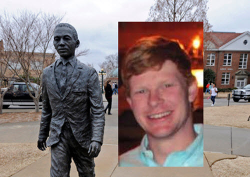 Graeme Harris, former Ole Miss student charged with desecration of James Meredith statue. (Courtesy: Facebook)