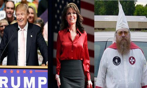 Trump, Palin, August Byron Kreis III